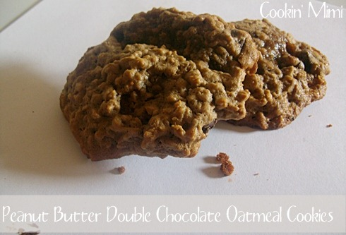 Peanut Butter Double Chocolate Oatmeal Cookies