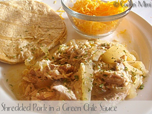 Shredded-Pork-in-a-Green-Chile-Sauce