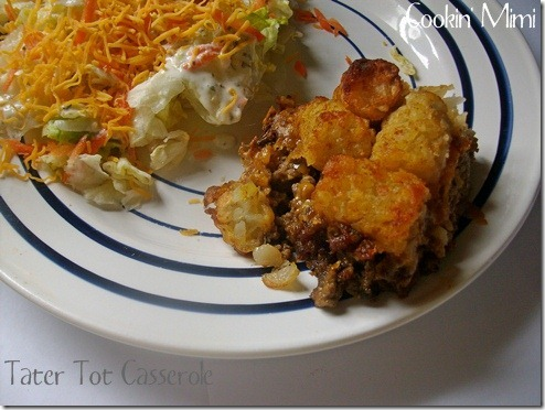 Tater Tot Casserole from Cookin' Mimi