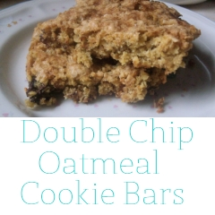 Double Chip Oatmeal Cookie Bars
