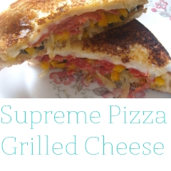 Supreme Pizza Grilled Cheese Sandwiches