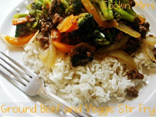 ground beef and veggie stir fry
