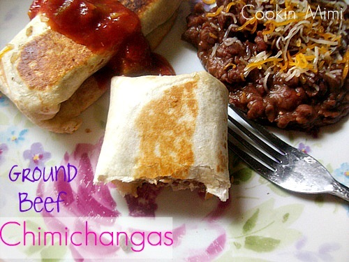 ground beef chimichangas