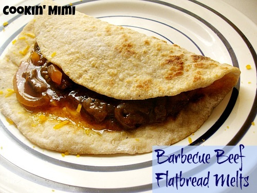 barbecue beef flatbread melts