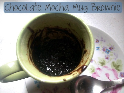 chocolate mocha mug brownie