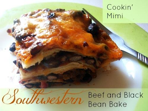 Southwestern beef black bean bake