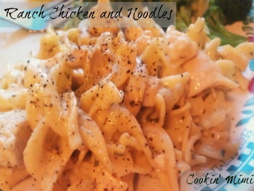 ranch chicken and noodles