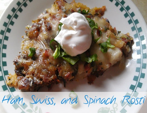 Ham Swiss and Spinach rosti