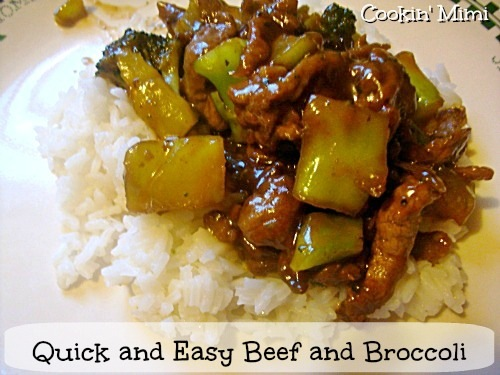 quick and easy beef and broccoli from Cookin' Mimi