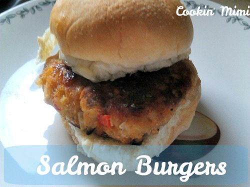 salmon burgers from Cookin' Mimi