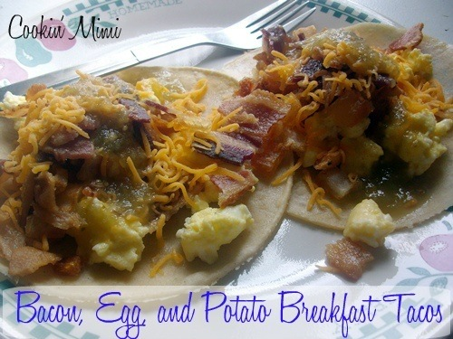 Bacon Egg and Potato Breakfast Tacos for #SundaySupper
