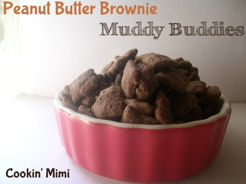peanut butter brownie muddy buddies