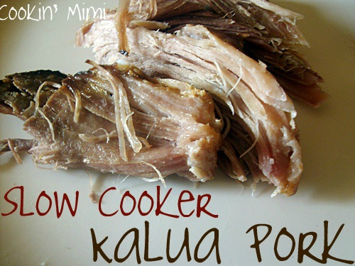 Slow Cooker Kalua Pork. Just three ingredients and less than 10 minutes prep and dinner is started. www.cookingmimi.com
