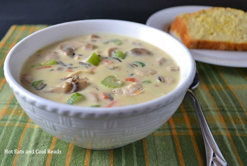Chicken and Wild Rice Soup from Hot Eats Cool Reads