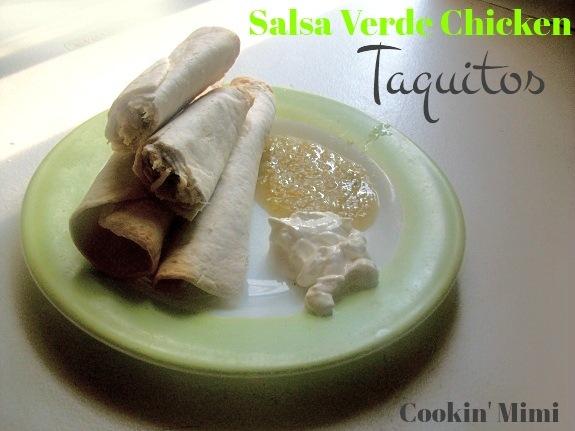 salsa verde chicken taquitos