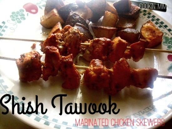 Shish tawook- Marinated Chicken Skewers
